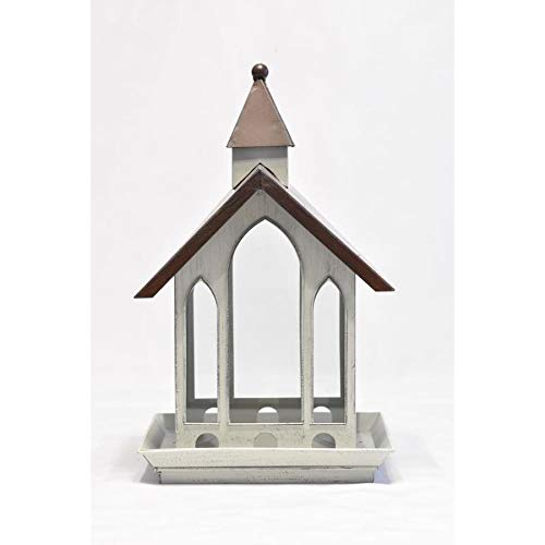 Backyard Glory Antique White And Bronze Metal Hopper Bird ()