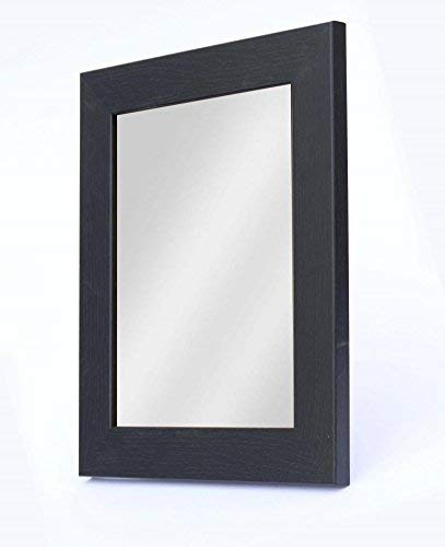 SPT 1.25 inch Black Color   Size- 7 x 9 inch    Shaving Beauty Vanity Mirror   Synthetic Fiber Wood Made Framed Mirror   