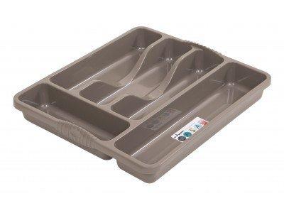 Wham 5 Compartment Cutlery Tray, Mocha, 10 x 10 x 10 cm WhamCutTraySMLmocha