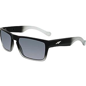 Arnette Specialist AN4204-05 Polarized Rectangular Sunglasses, Black, 58 mm