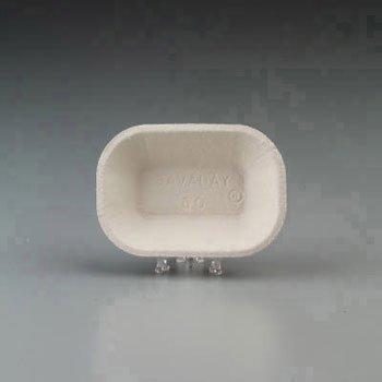 Chinet Savaday Molded Fiber Food Tray, Beige, 6x4, 250 per Bag - 1000 trays per case, 250 per (Chinet Savaday Food Tray)