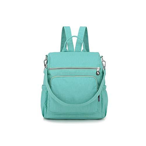 2019 Women Backpack Backpacks Women's Backpack for Teenage Girls Waterproof Nylon School Bags,Green ()