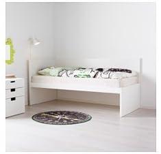 Ikea - Juego de Cama con cabecero y somier de láminas, Color ...