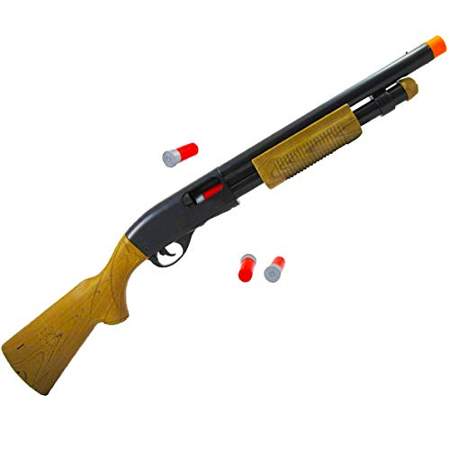 Liberty Imports Toy Pump Action Shotgun Hunting Rifle with Ejecting Shells - Realistic Electronic Gun Sounds for Kids (30-Inches) (Pump Shotgun)
