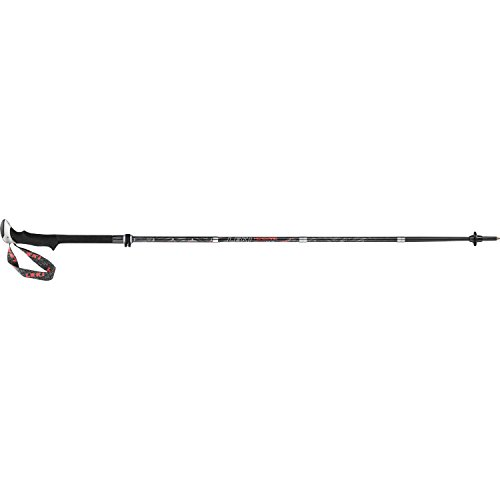 Leki Micro Vario Carbon Walking Poles One Size Black Red