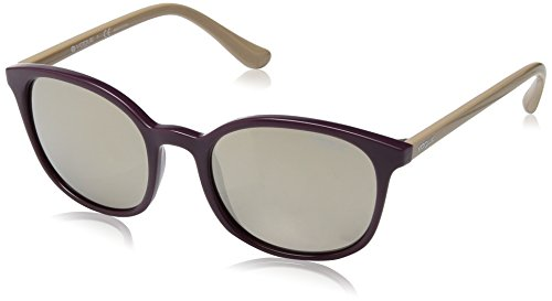 VOGUE Women's Injected Woman Non-Polarized Iridium Square Sunglasses, Violet, 52 - Sunglasses Brand Vogue