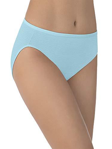 Vanity Fair Women's Illumination Hi Cut Panty 13108, Blue Topaz, X-Large/8