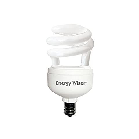 Bulbrite 509006 CF5WW/LM/E12 5W Low Mercury Compact Fluorescent T2 Coil with Candelabra Base, 25W Equivalent, Warm - Candelabra Compact