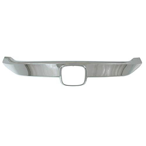 Partomotive For 16-18 Civic Coupe//Sedan Front Grille Trim Grill Molding Garnish Panel Chrome