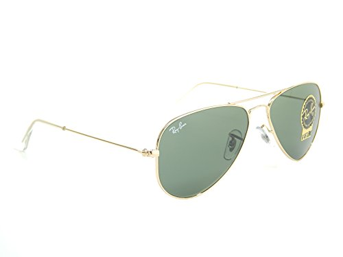 New Ray Ban RB3044 L0207 Gold/Green Classic G-15 52mm Sunglasses