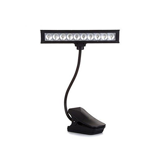 IREALIST 10 LED Extra Bright Clip On Book Light, Flexible