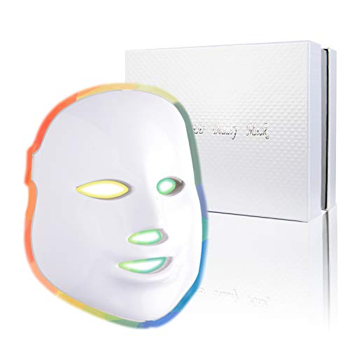 Photon Skin Rejuvenation Face & Neck Mask | LED Photon Red Blue Green Therapy 7 Color Light Treatment Anti Aging Spot Removal Wrinkles Whitening Facial Skin Care Mask