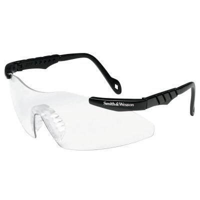 (Smith & Wesson Magnum 3G Safety Eyewear, Clear PolycarbAnti-Fog,Anti-Scratch Lenses,Black Frame)
