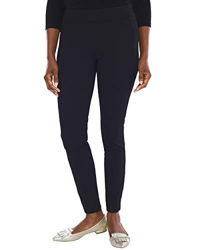 Career Linen Pant (Chico's Women's Travelers Collection Crepe Pants Size 0/2 XS (00 REG) Black)