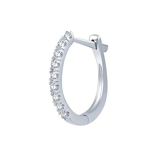Giantti Diamant pour femme Boucles d'oreilles créoles (0,033CT, VS Clarté, Gh-colour)