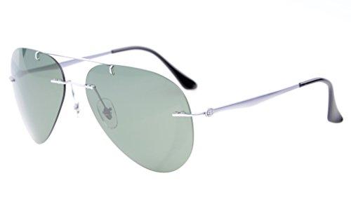 Eyekepper Titanium Style Rimless Polarized Sunglasses G15 Lens by Eyekepper