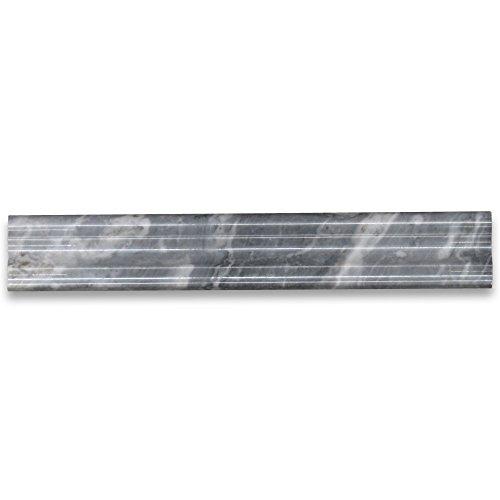 (Bardiglio Gray Italian Dark Grey Marble Chair Rail Trim Molding 2 x 12 Polished )