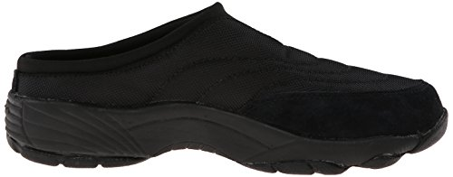 Propet Womens Wash And Wear Slide Nylon, Black Suede