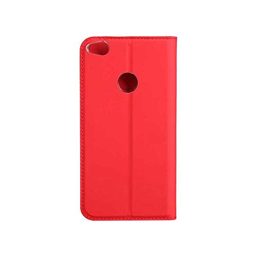 Huawei P8 Lite 2017 Case, UNEXTATI Ultra Slim Wallet Flip Case with Card Holder and Magnetic Closure, Full Body Protection Bumper Cover for Huawei P8 Lite 2017 (Red #3)