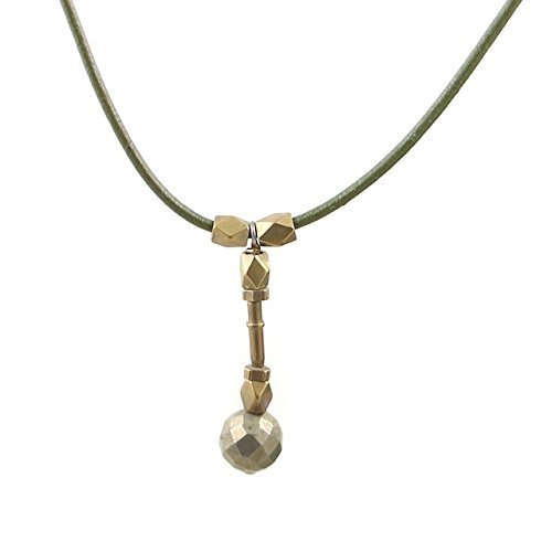 cool-mens-necklace-with-pyrite-and-hardware-accents-on-olive-leather-as-seen-on-nbcs-heroes