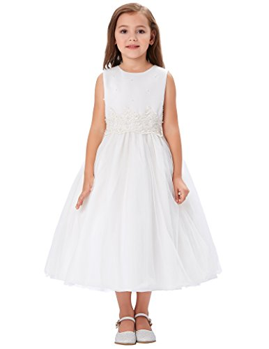 Princess Dresses For Teenagers (Sleeveless White Princess Dresses for Teens 11-12 Years)