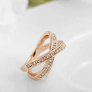 Fashion Austrian crystal diamond ring for women and girls
