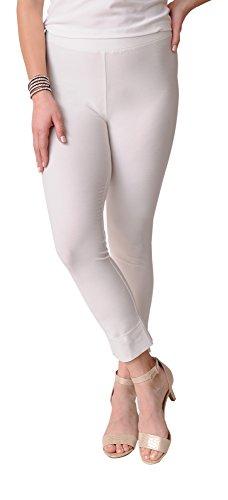 Eileen Fisher Washable Stretch Crepe Slim Cropped Pant (XL, Bone) (Eileen Fisher Slim Pants)