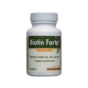 Biotin Forte Extra Strength-5 mg Enzymatic Therapy Inc. 60 Tabs by Enzymatic Therapy Inc.