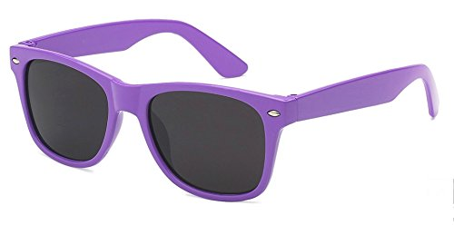 (WebDeals - Kids Childrens 80's Classic Retro Sunglasses - Variety of styles and colors (Purple))