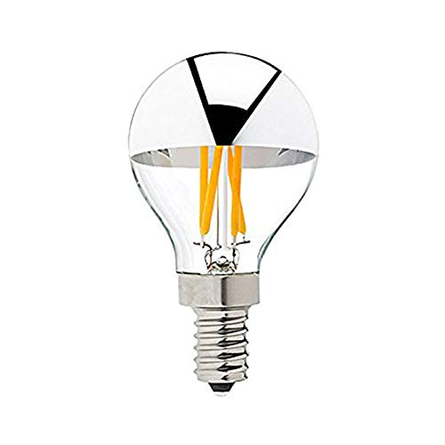 Century Light – G45 Edison Style LED Bulb 4W – Silver Tipped LED Filament Light Bulb – 40 Watt Equivalent – E12 Candelabra Base Lamp – Warm White 2700K UL-Listed Dimmable – 10Pack Review