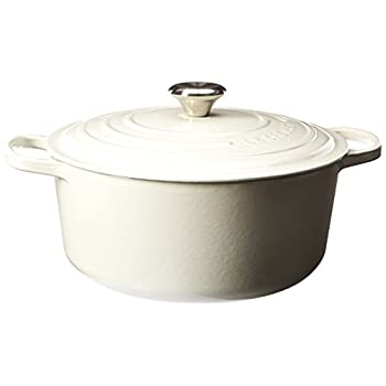 Image of Le Creuset Signature Enameled Cast-Iron 7-1/4-Quart Round French (Dutch) Oven, White Home and Kitchen