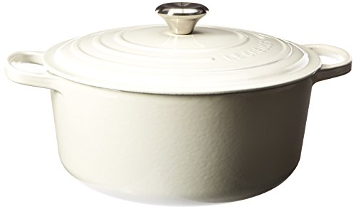 Le Creuset Signature Enameled Cast-Iron 7-1/4-Quart Round French (Dutch) Oven, White by Le Creuset