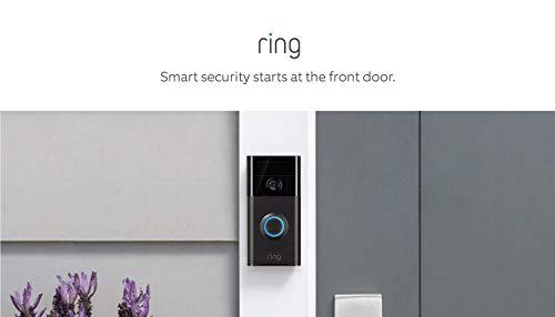 Ring Video Doorbell (1st Gen) – 720p HD video, motion activated alerts, easy installation – Venetian Bronze