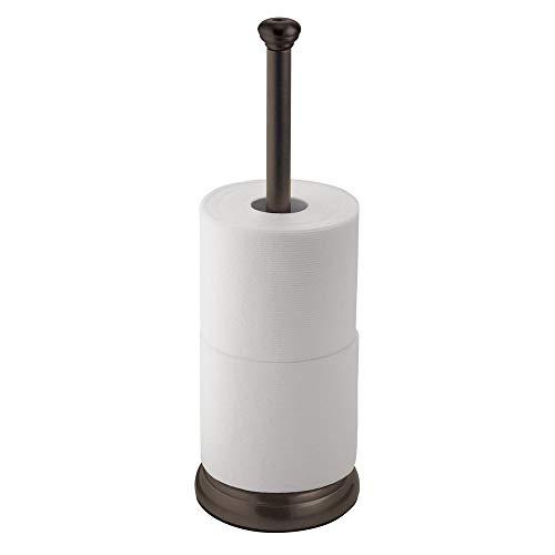 InterDesign York Metal Toilet Paper Reserve, Free-Standing Tissue Organizer for Bathroom Storage, 5