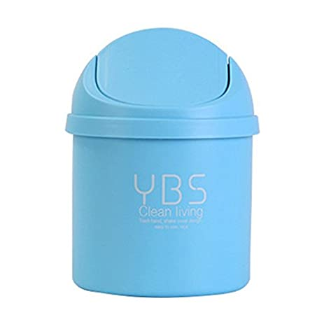 Office Desktop Portable Cute Mini Trash Can Car With Lid Recycle Plastic  Desk Garbage Cans For