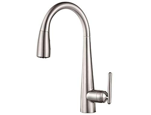 Pfister GT529-FLS Lita Xtract All-In-One Pull Down Kitchen Faucet with Integrated Water Filter, Stainless Steel ()