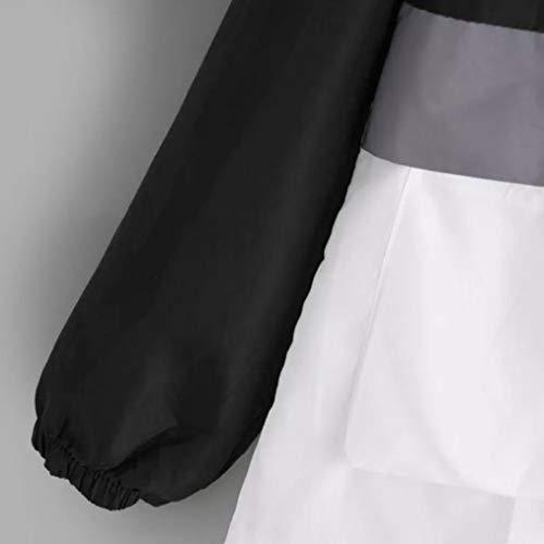 Block Color de Veste Printemps Manche Longue Femmes Femme Dcontract Automne Noir Femme Zipp Veste Capuche Chic Sport Veste Fille Gilet Sweat Sport Lger qnz6TOxZ