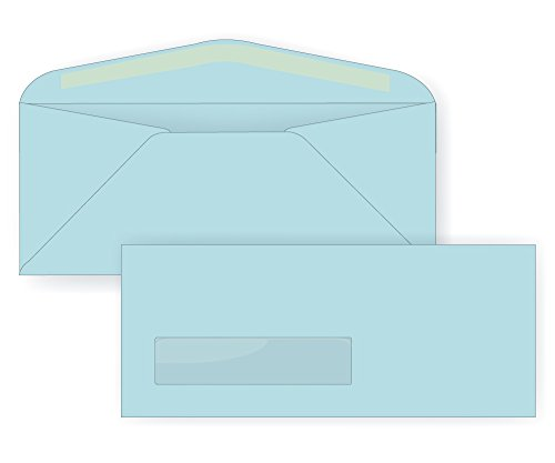 Cheap #10 Window Envelope - 24# Light Blue (4 1/8 x 9 1/2) - Business Window Series (Pastel) (Box of 500) for sale