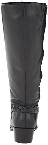 Women's Leather 5 Regular Black New M 9 Cradles Black boots Walking Curly Shaft Softy Zxq85Pnw