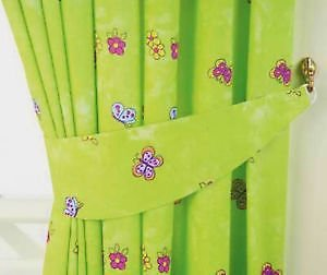 Girls Lime Green Fairytale Princess Butterfly Bedroom Curtains 66 ...