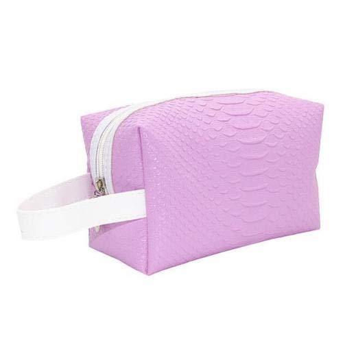 - Fashion Quartet Crocodile Handbag Multi Functional PortableSofe Cosmetic Bag (Color - Purple)