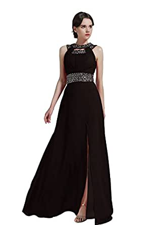 Amazon.com: MISSYDRESS Beaded Bridesmaid Evening Party Prom Chiffon ...