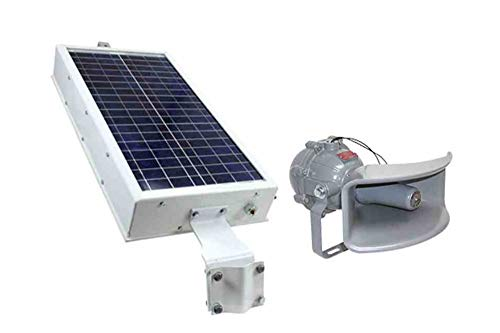 Solar Powered Explosion Proof Horn - 8 Tones - NEMA 4X - 110 Decibels - 30W Solar Panel - C1D1 ()
