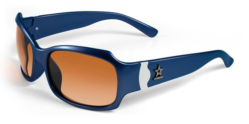 NFL Dallas Cowboys Bombshell Sunglasses with Bag, Navy/White