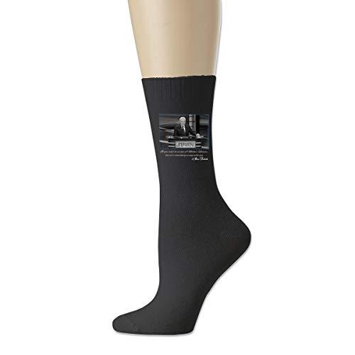 Unisex Alex Trebek Mother Nature Jeopardy Quote Cotton Socks Casual Stocking for Men Women Black