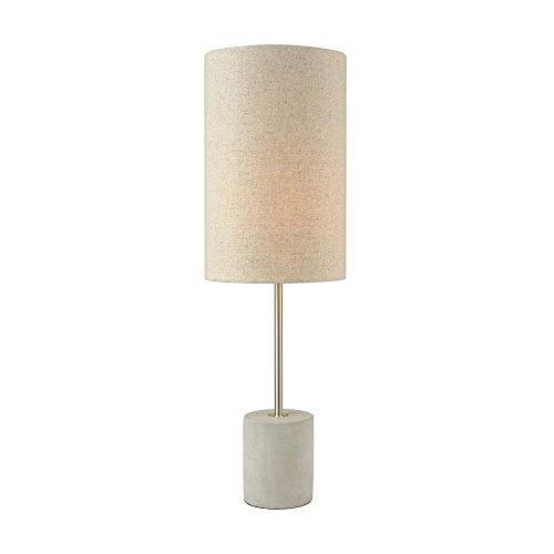 Elk Lighting D3453 Katwijk Table Lamp Nickel, Polished Concrete (Concrete Table Lamp)