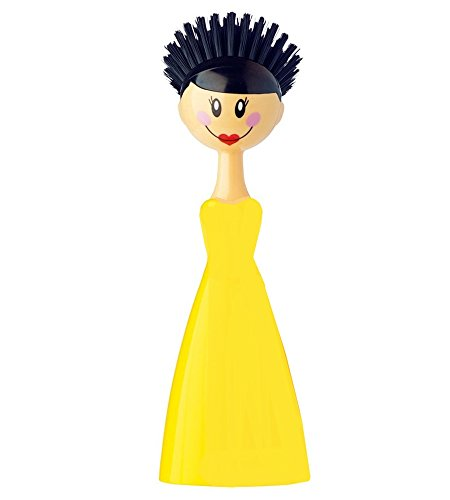 Detachable Cleaning Brushes Kitchen Lady Dish Brush Holder Doll Scrub Brush by Nuobo (Yellow) by Nuobo