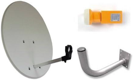 Antena parabólica de 80cm con LNB y Soporte Televes
