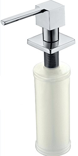 Stainless Steel Square Soap Dispenser (Seasang WY-Y009-02B Soap Dispenser Best 12 Oz Kitchen Under Counter In Sink Soap Lotion Dispenser for Thick Granite Easy Installation)