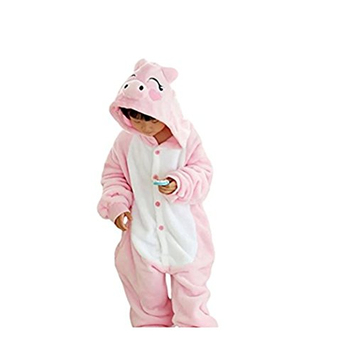 [JT-Amigo Kids Unisex Cosplay Pajamas Onesie Piggy Costume 9-11 Years] (Boy Pig Costume)